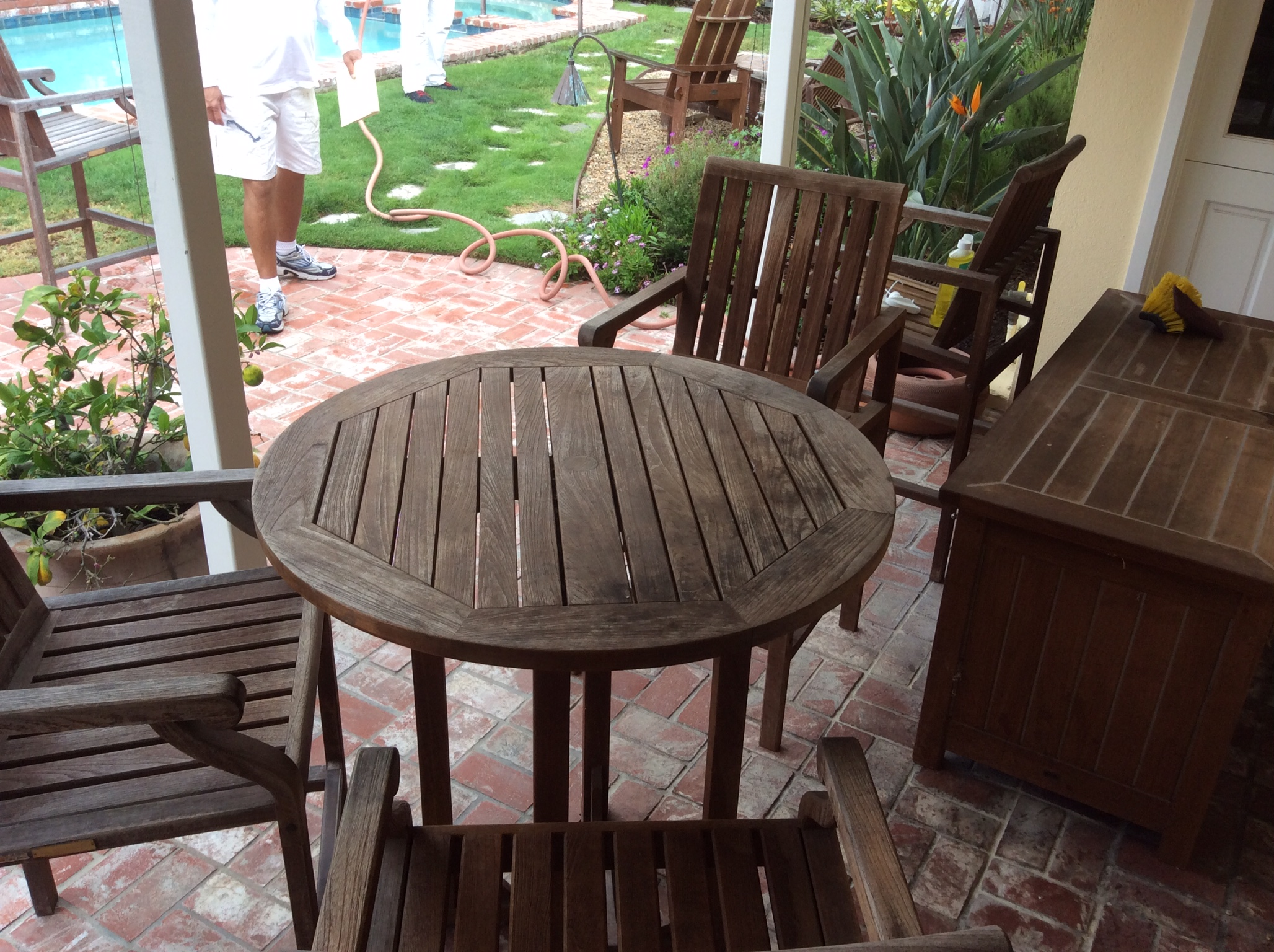 Refreshing Weathered Teak. Refinishing Teak Outdoor Furniture   Wilson Painting